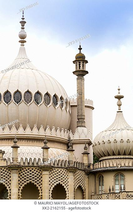 Detail of dome in the Royal Pavilion of Brighton, United Kingdom