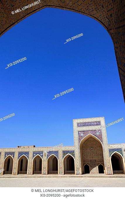 Islamic architecture in courtyard, Kalon Mosque, also known as Kalyan Mosque, Poi Kalon, Bukhara, Uzbekistan