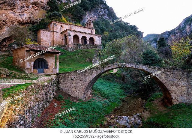 Ermita Santa María de la Hoz, Tobera, Las Merindades, Burgos, Castilla y Leon, Spain, Europe