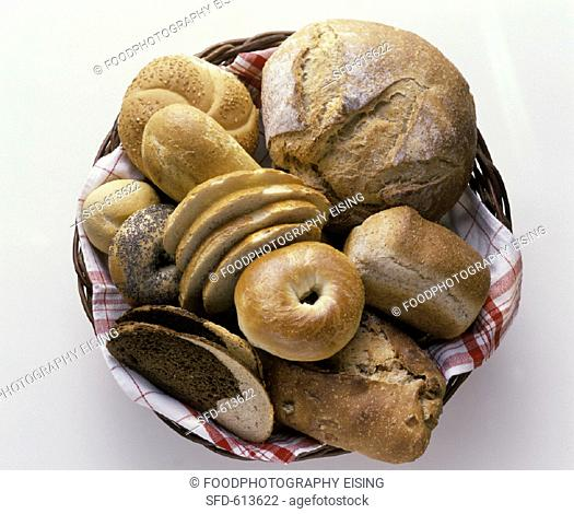 A Basket of Assorted Bread