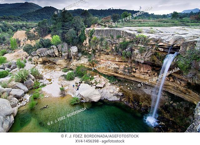 Tastavins riverside in La Portellada  Matarraña, Teruel  Aragon  Spain