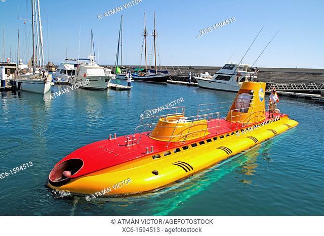 Submarine in Puerto Calero, Lanzarote, Canary Islands, Spain