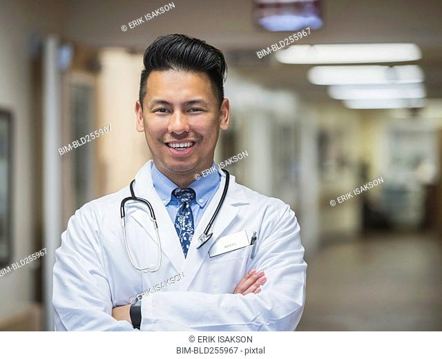 Portrait of confident Filipino doctor