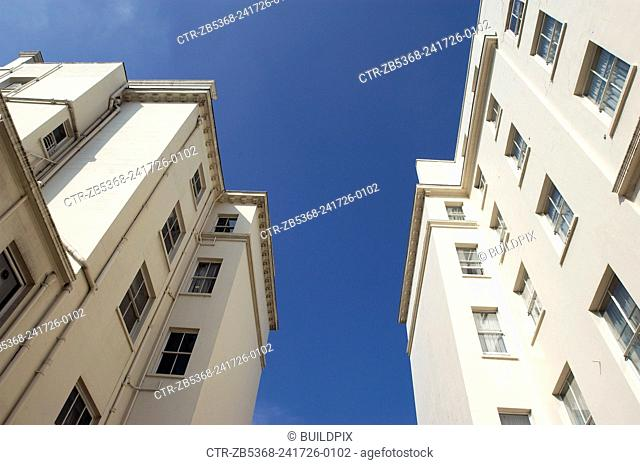 View looking up towards apartments in Kensington