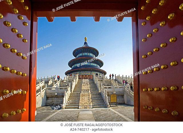 Qinian Hall (Hall of Prayer for good harvest) in Temple of Heaven, Beijing. China