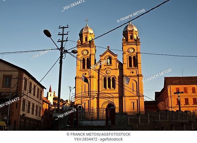 Ambozantany cathedral at Fianarantsoa upper town ( Madagascar)