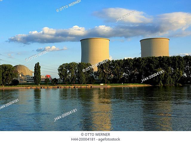 Nuclear power plant Biblis, Bergstrasse, Hessen