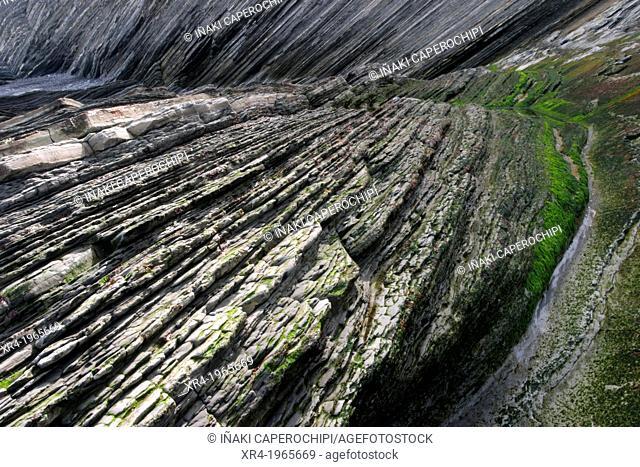 Zumaia - Deba Flysch, Mendata Point, Deba, Gipuzkoa, Guipuzcoa, Basque Country, Spain