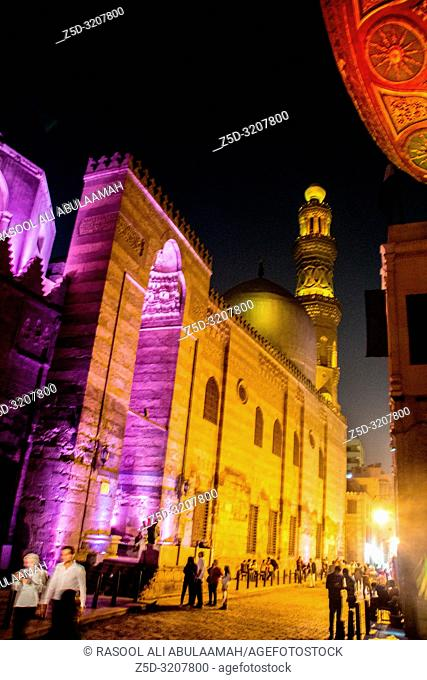 Cairo, Egypt – November 5, 2018: is one of the oldest streets in Cairo , and it is named for Al-Mu'izz li-Din Allah, the fourth caliph of the Fatimid dynasty