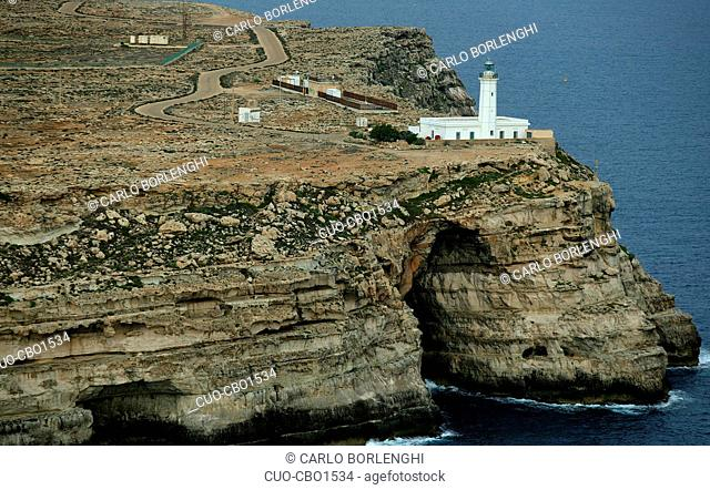 Aerial view, Lampedusa Island, Sicily, Northen Italy, Europe