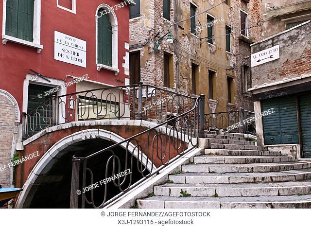 Venetian bridge, Venice, Italy, Europe