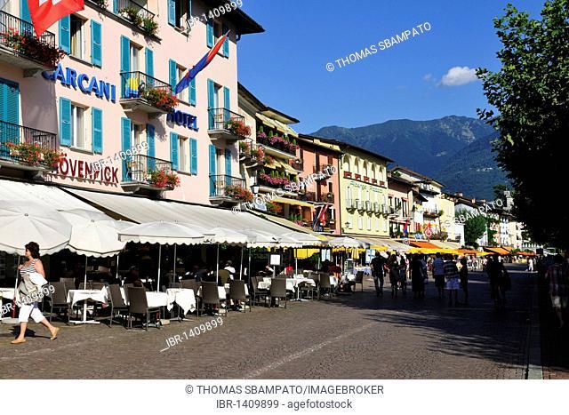 Ascona on Lago Maggiore, Lake Maggiore, Canton of Ticino, Switzerland, Europe