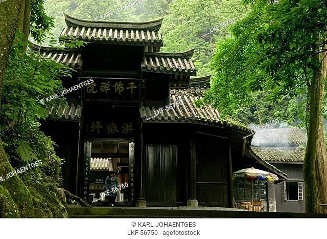 Hong Chun Ping Temple, Mountains, Emei Shan, World Heritage Site, UNESCO, China, Asia