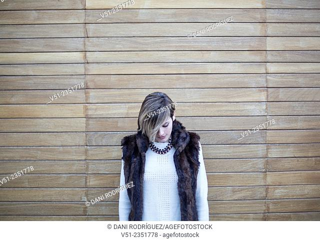 Portrait of a stylish woman outdoors