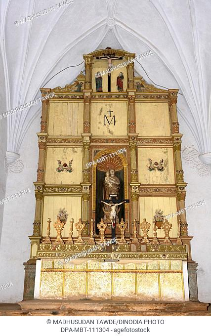 Main Altar ; The Church Of Our Lady Of The Rosary ; Built In 1544 A.D. ; UNESCO World Heritage Site ; Old Goa ; Velha Goa