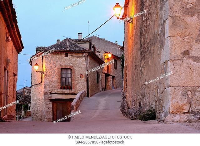 Home between two streets in Maderuelo, Segovia, Spain