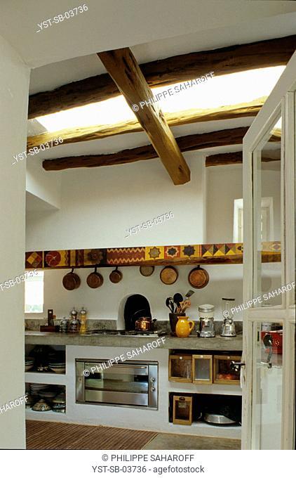 Kitchen, reformed house, Ibiza, Spain