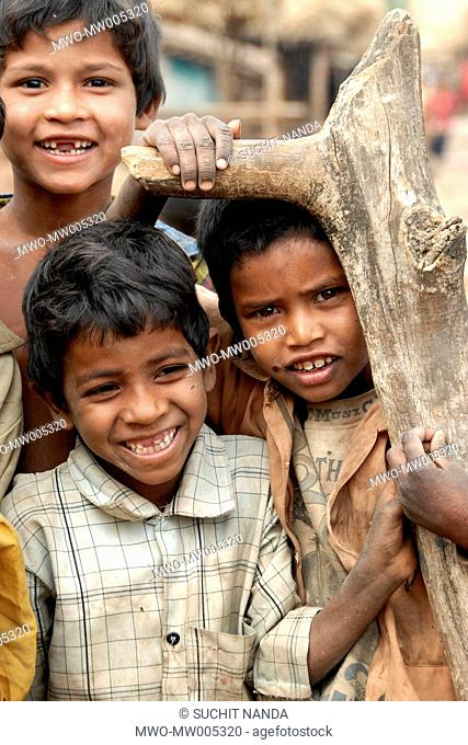 India: 'Smiling India': As I was walking down the lanes of the village in near Nagpur, Maharashtra, the children of the village started to follow me They were...