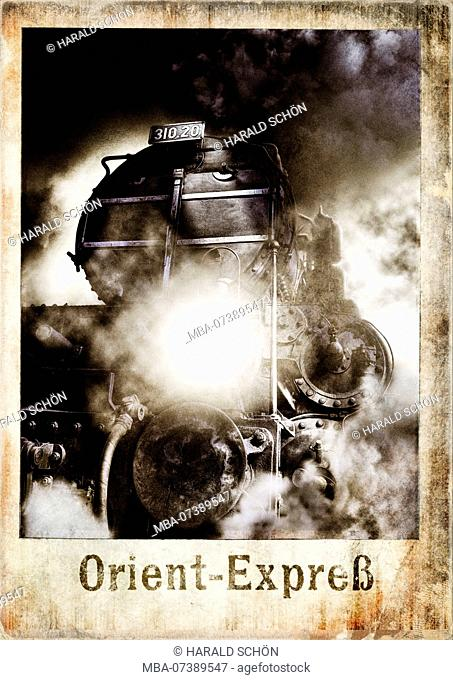Locomotive, Lamp, Buffer, Smoke, Steam, Composing, Retouched, [M]