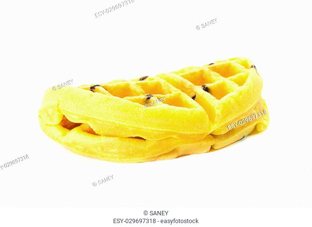 Waffles on white background, Thailand