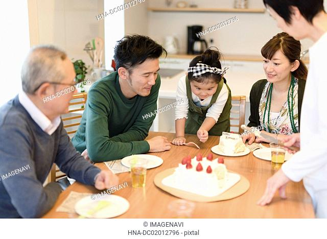 Grandchild's birthday party