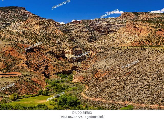 The USA, Utah, Wayne County, torrey, Capitol Reef National Park, Fremont River Valley, Fruita Historic District, Fremont Gorge