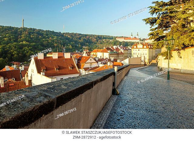 Autumn morning at Hradcany, Prague, Czech Republic