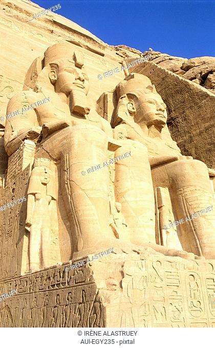 Egypte - Basse Nubie - Abou Simbel - grand temple de Ramses II