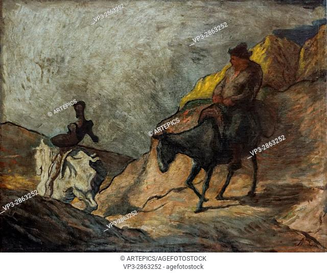 Honoré Daumier - Don Quichotte and Sancho Pansa - 1866 - XIX th century - French school - Alte Nationalgalerie - Berlin