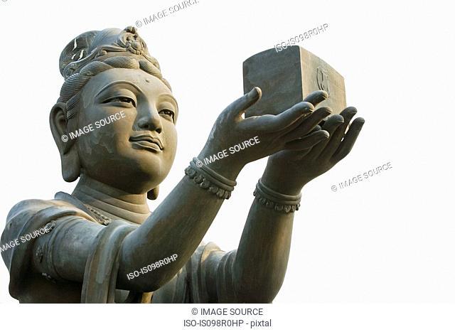 Statue near tian tan buddha