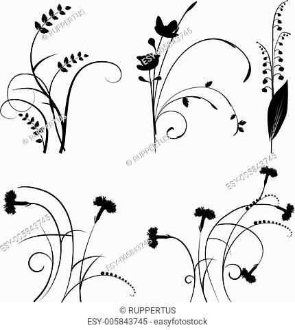 Collection for designers, plant vector set