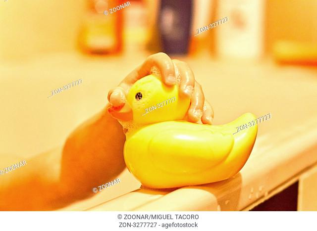 Plastic toy duck yellow baby shower