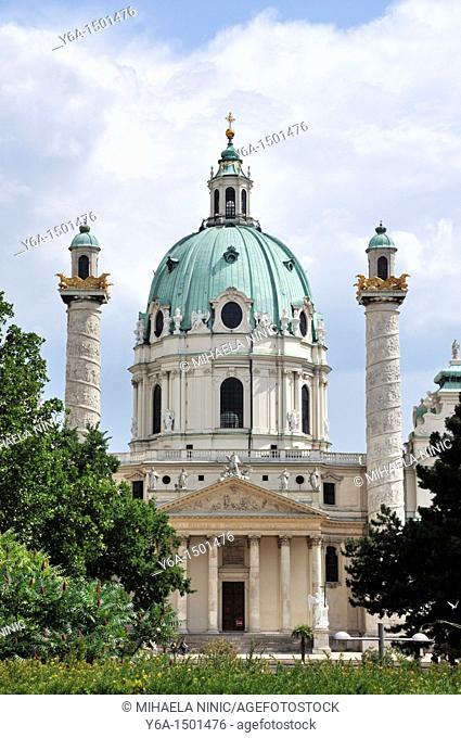 Church of St Charles, Karlskirche, Vienna, Austria, Europe