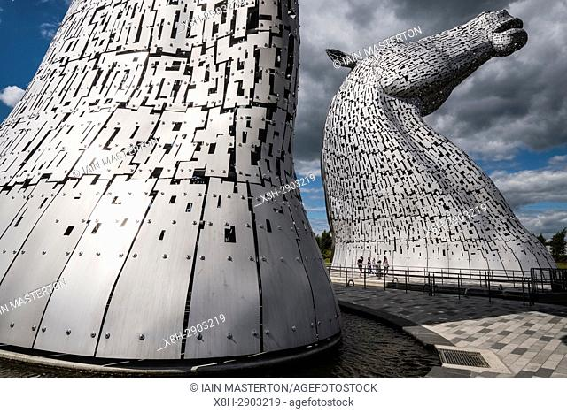 The Kelpies sculptures in Helix Park, Falkirk, Scotland, United Kingdom