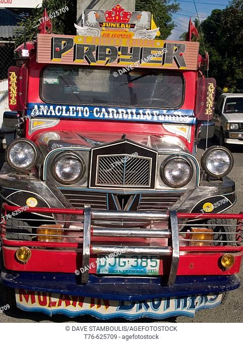 colorful jeepney, the workhorse of the Philippines