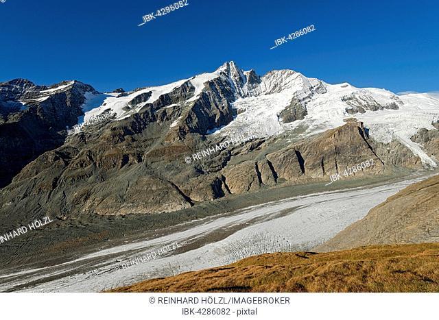 Großglockner and Pasterze glacier, High Tauern National Park, Carinthia, Austria