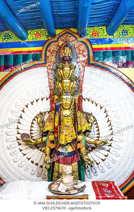 Buddhist altars at Leh (Ladakh, India)
