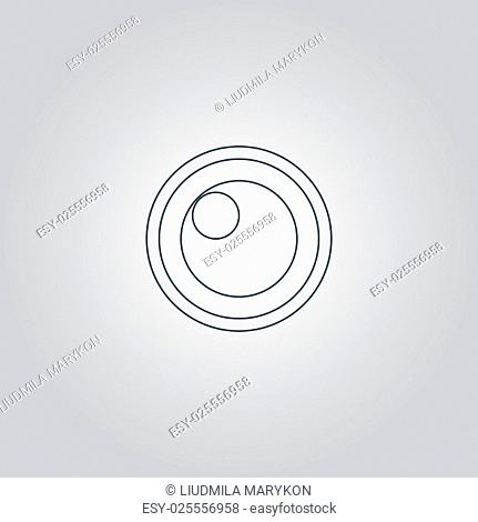apple of the eye. Flat web icon or sign isolated on grey background. Collection modern trend concept design style vector illustration symbol