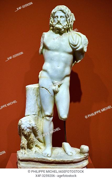 Turkey, Izmir province, Selcuk city, archaeological site of Ephesus, museum, Zeus statue