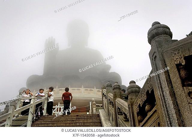 Giant Buddha in Po Lin Monastery  Lantau Island,Hong Kong, China