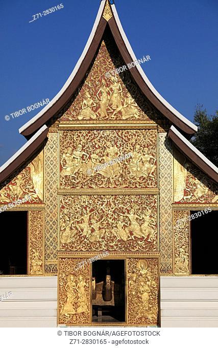 Laos, Luang Prabang, Wat Xieng Thong, Funerary Carriage Hall, buddhist temple,