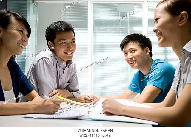 Colleagues in a meeting