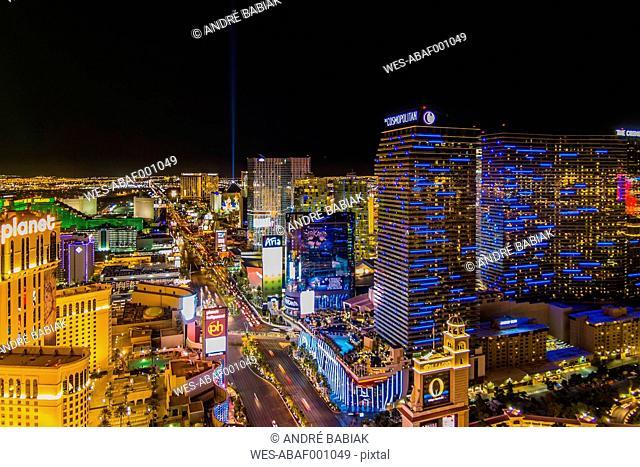 USA, Nevada, Las Vegas at night