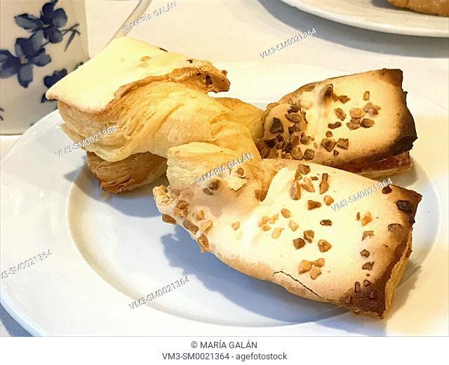 Corbatas, traditional cake made in Unquera, Cantabria, Spain