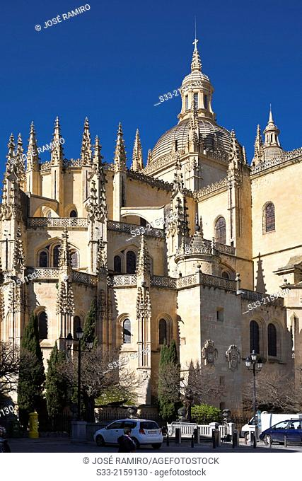 Cathedral of Segovia. Castilla Leon. Spain
