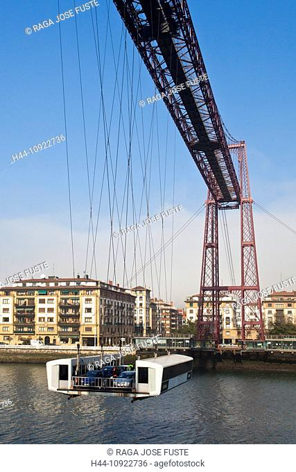 Spain, Europe, Basque Country, bridge, Portugalete, cables, crossing, traffic, ropeway, unique, eiffel, famous, first, hang, hanging, ingenious, iron, old