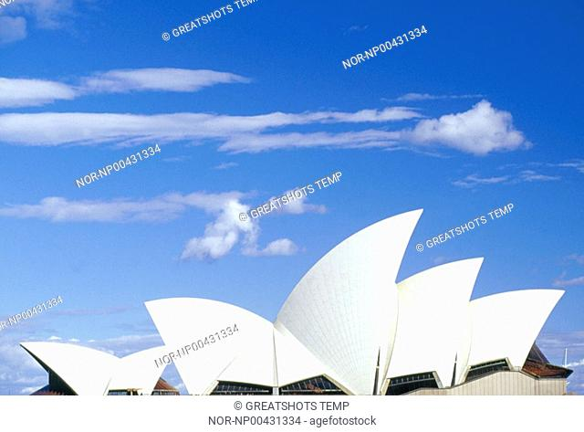 View of the roof of the Sydney opera house,Australia