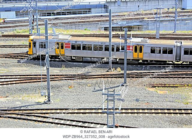 BRISBANE - JAN 02 2019: Queensland Rail train.Queensland Rail have 48.5 million customer journeys on the City network (south-east Queensland) per year