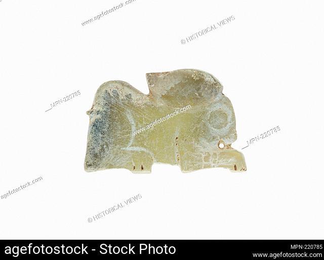 Hare Pendant - Western Zhou period, 11th/10th century B.C. - China - Origin: China, Date: 1100 BC–900 BC, Medium: Jade, Dimensions: 1 3/8 × 7/8 × 1/8 in