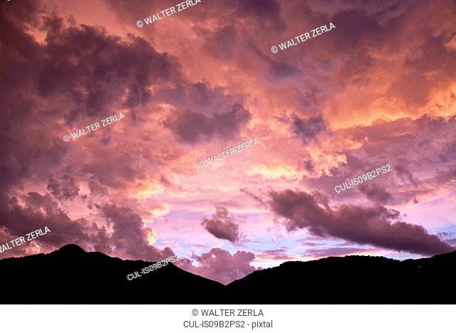 Twilight, sunset